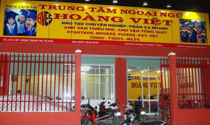 Anh ngữ Hoàng Việt là trung tâm tiếng anh uy tín ở Hóc Môn