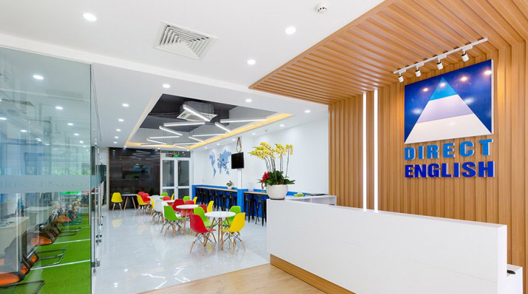 Trung tâm Direct English Sài Gòn với cơ sở vật chất khang trang